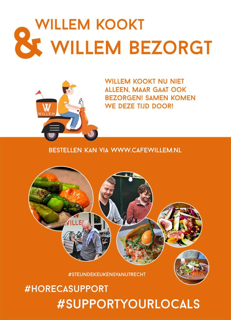 Willem bezorgt